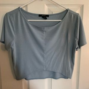 FOREVER 21 BABY BLUE CROP TOP